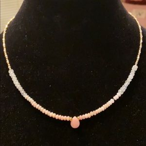PINK MOON GOLD Gemstone Necklace